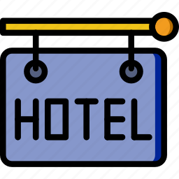 holiday, hotel, sign, summer, vacation icon