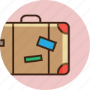 bag, baggage, clothes, luggage, suitcase, summer, travel icon