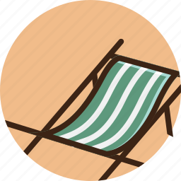 chair, relax, set, summer, sunbathing, sunbed, tropical icon
