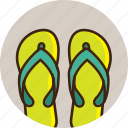 clothes, footwear, pools, sandals, slippers, summer, travel icon