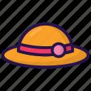 beach cap, cap, girl, hat, holiday, summer, women icon