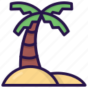 beach, coconut tree, nature, palm, plant, summer, tree icon