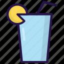 drink, ice, lemon, summer icon