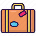 adventure, bag, baggage, holiday, suitcase, travel icon