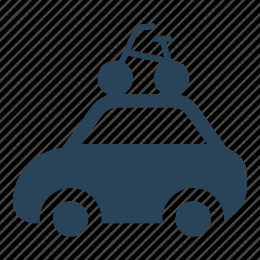 auto, bike, luggage, summer, travel, vacation trip, vehicle icon