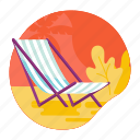 beach, chair, lounge, recliner, relax, summer icon