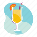 beach, cocktail, drink, summer icon