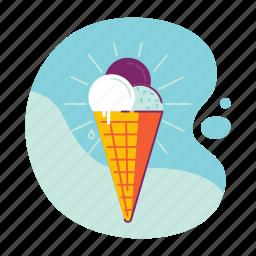 cream, food, ice, icecream, summer, sweet icon
