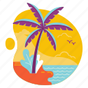 beach, island, palm, summer, travel, tree, vacation icon