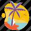 beach, island, palm, summer, travel, tree, vacation icon