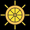 boat, ship, ship wheel, wheel