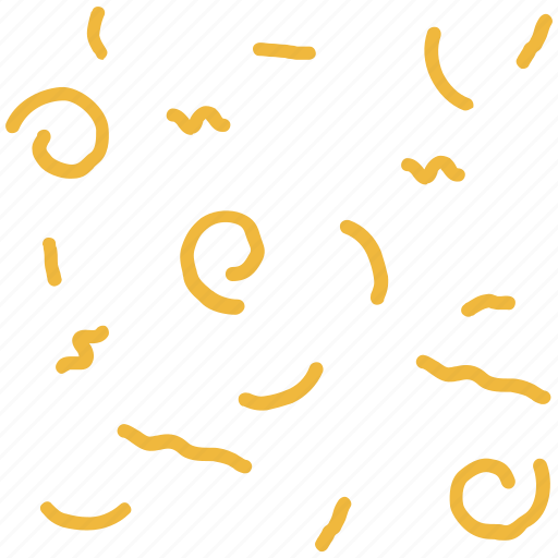 confetti, lines, party, shapes, squiggles icon