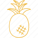 beach, food, fruit, pineapple, sweet, tree, tropical icon
