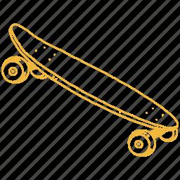 board, deck, extreme sport, sk8, skate, skateboard, sport icon
