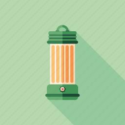 camping, equipment, kerosene, lamp, lantern, light, travel icon
