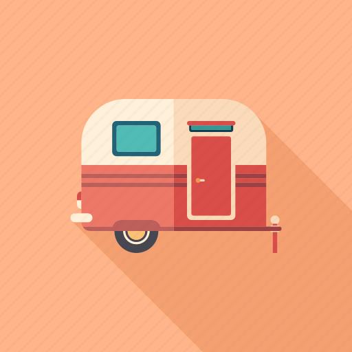 adventure, camper, camping, tourism, trailer, transport, travel icon