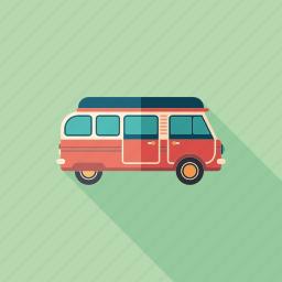 camping, car, tourism, transport, travel, van, wagon icon