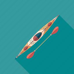 boat, canoe, kayak, kayaking, sea, sport, swimming icon