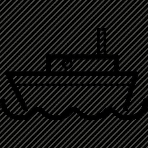 boat, marine, ocean, sea, ship icon