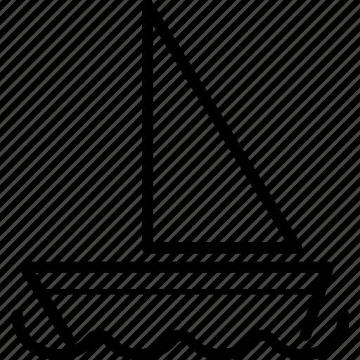 boat, ocean, sail, sailing, sea, ship icon