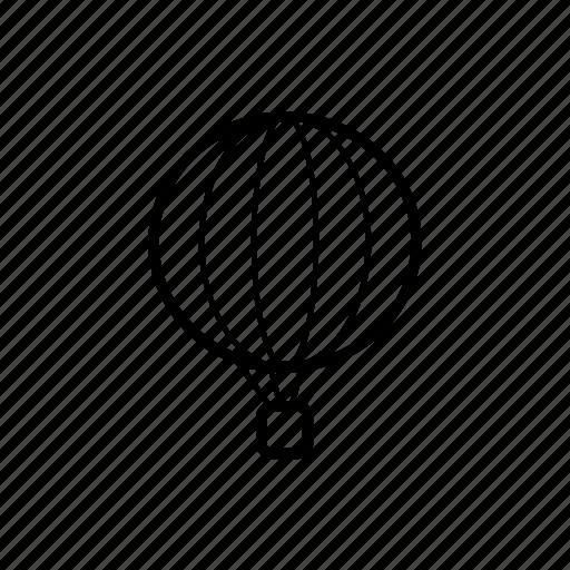 air, balloon, flight, fly, transport, travel, vacation icon