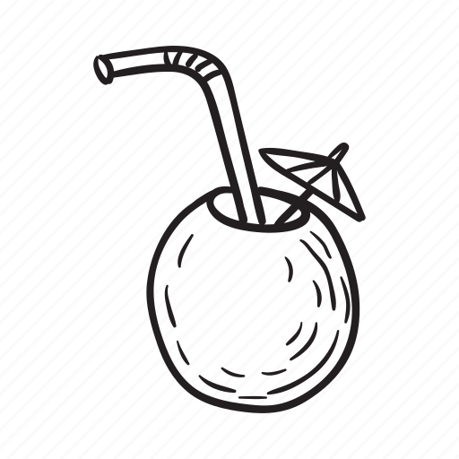 Beach, cocktail, coconut, drink, summer, travel, vacation icon - Download on Iconfinder