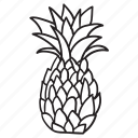 ananas, fruit, pineapple, summer, travel, tropical, vacation icon