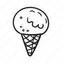 cone, dessert, food, ice-cream, scoop, summer, sweet icon