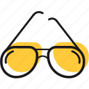 dark, glasses, heat, protection, summer, sun icon