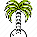 banana, coconut, ocean, palm, sea, summer, tropics icon