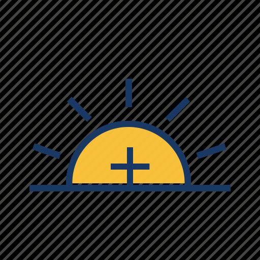 daytime, high temperature, hot sun, summer, sun, sunny day icon
