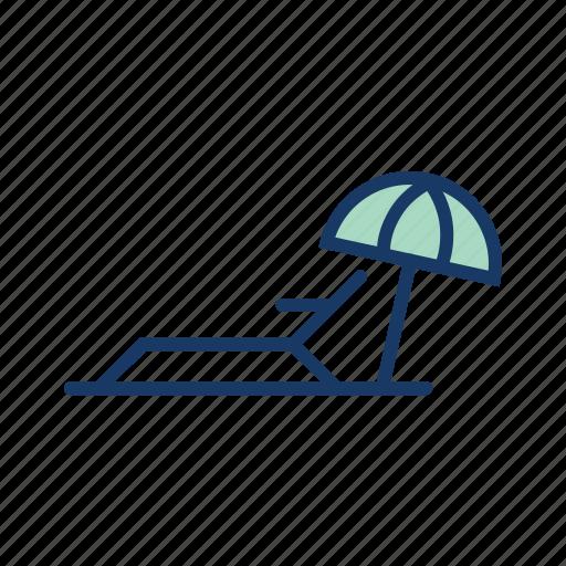 beach, resort, summer, sun, sunny, umbrella, vacation icon