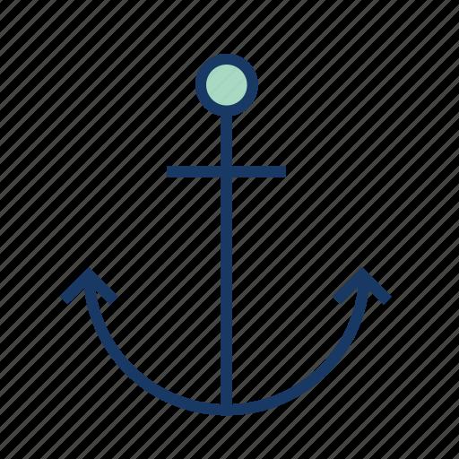 anchor, cruise, marine, ocean, sea, ship, water icon
