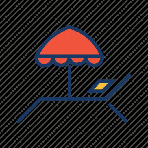 beach, holiday, resort, rest, summer vacation, umbrella icon