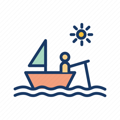 boat, daytime, fisherman, fishing, sea, ship icon