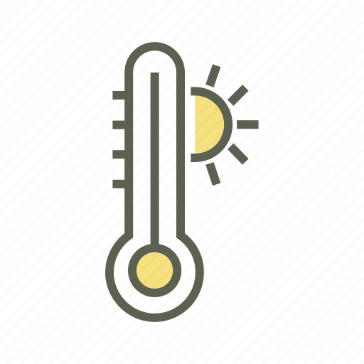 Forecast, heat, high degree, hot, hot temperature, temperature, thermometer icon - Download on Iconfinder