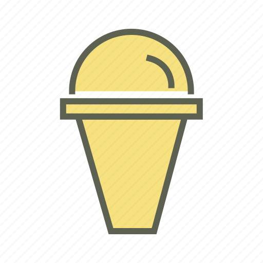 cone ice cream, dessert, food, summer, sweet icon