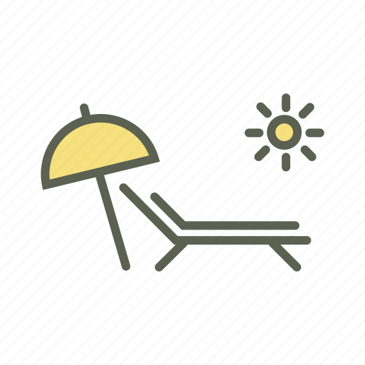 beach, sea, summer, sun, sunny, umbrella, vacation icon