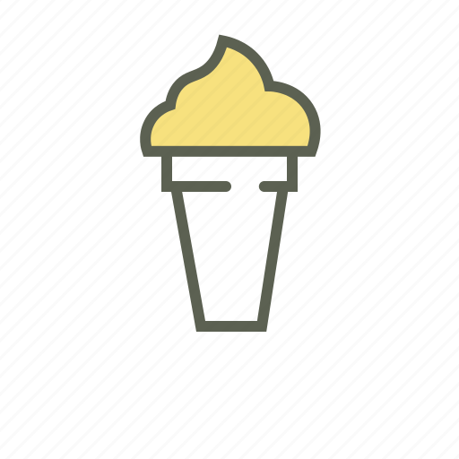 cone ice cream, dessert, food, summer, sweet icon