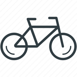 bicycle, bike, cycle, pedal cycle, push bike icon
