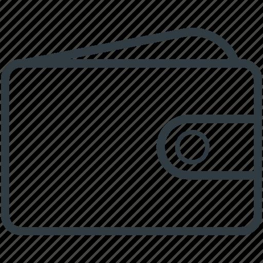billfold wallet, leather wallet, pocket purse, pocketbook, purse, wallet icon