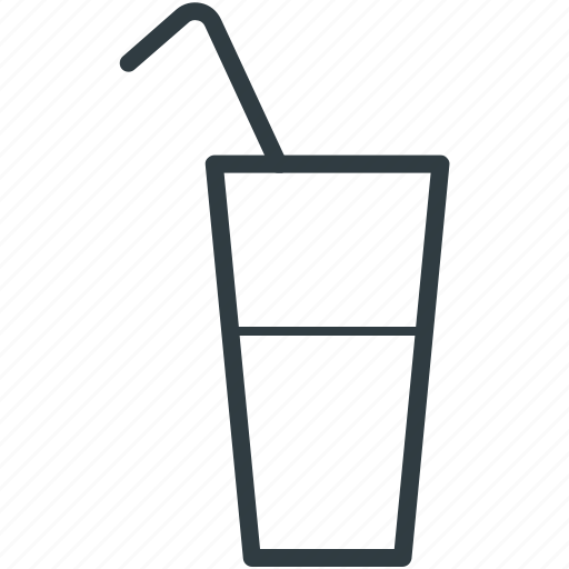 cold drink, drink, juice, soda water, straw icon