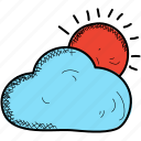 cloud, cloudy, day, spring, sun icon