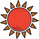 shine, sun, sunny icon
