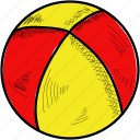 ball, beach, play icon