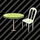 beach, chair, seat, sit, summer, table