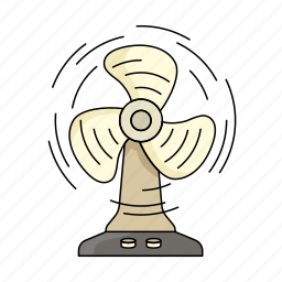 breath, cool, fan, hot, spin, summer, weather icon