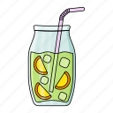 summer, lemon, drink, mojito, ice cube, fresh, cold icon