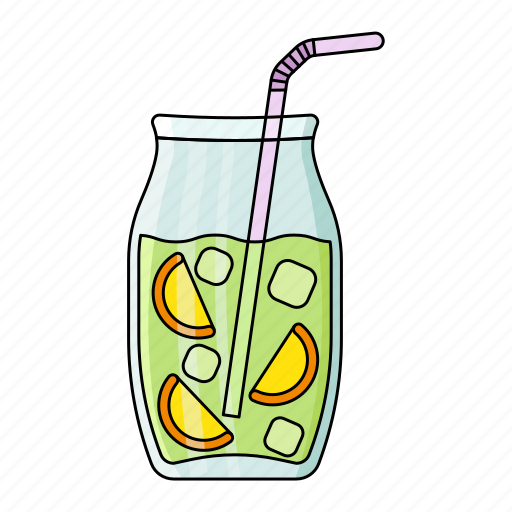 cold, drink, fresh, ice cube, lemon, mojito, summer icon