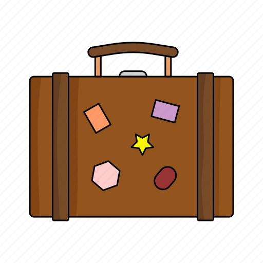case, cloths, marks, suitcase, travel, trip, wear icon